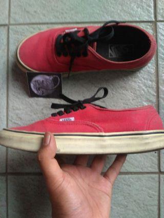 Vans Auth Red