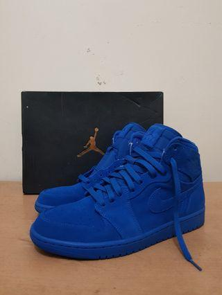 Original Nike Air Jordan 1 Retro High Blue Suede