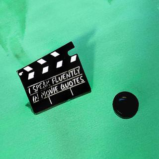I Speak Fluently In Movie Quotes Directors Slate Enamel Pin
