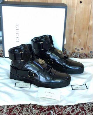 gucci black tiger high top sneakers