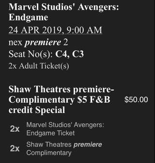 Avengers: Endgame Movie tickets