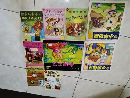1 set 9 books ( Chinese, malay, English short story)