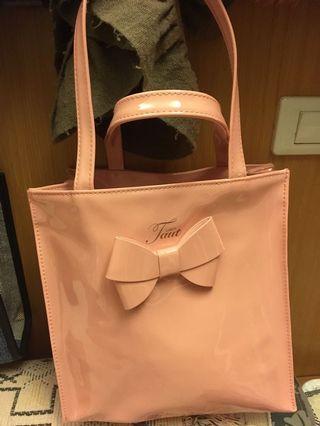 🚚 蝴蝶結漆皮包包購物袋
