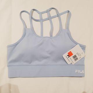 Fila baby blue sports/yoga bra with back detail