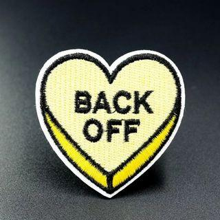 #819 yellow heart back off tumblr Iron On Patch | po