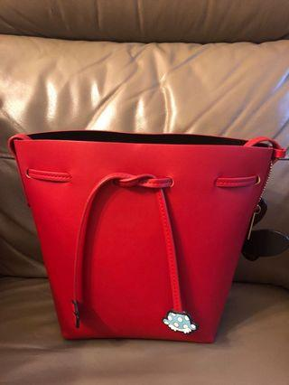 gracegift minnie bucket bag 米妮紅色水桶袋