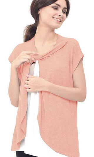 Nursing Top / Baju Hamil & Menyusui peach