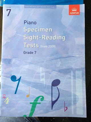 Piano Grade 7 specimen sight-reading tests (from 2009) ABRSM