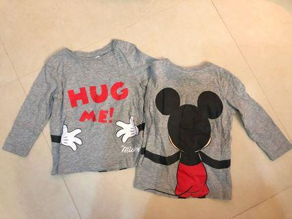 Disneybaby Mickey Mouse t-shirt (both)