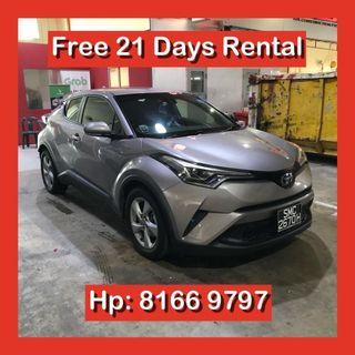 Toyota CHR 1.8 Auto Hybrid Grab Car Rental