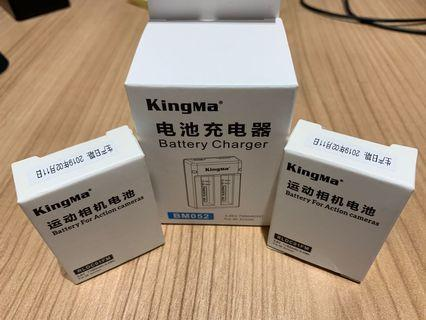 Batteries and Charger for MI Xiaomi 4K Action Camera