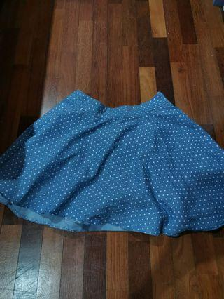 polka dot Skater Skirt with safety pants