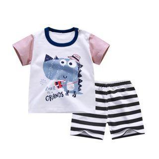 #EndgameYourExcess 100% Cotton! Dino shirt and pants set - Size 80