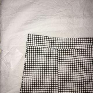 pleated checkered a line skirt