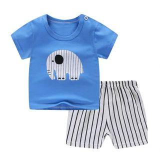 #EndgameYourExcess 100% Cotton! Elephant shirt and pants set - Size 80