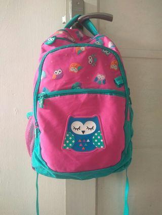 Smiggle backpack owl