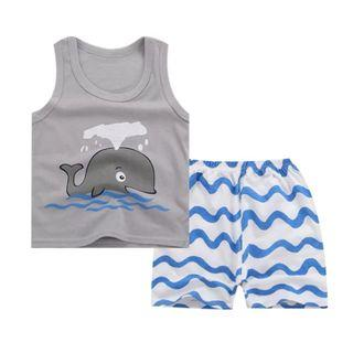 #EndgameYourExcess 100% Cotton! Whale shirt and pants set - Size 60