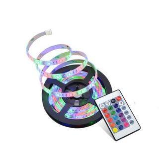 SUPli LED Strip Lights Waterproof 3528 5M 300leds RGB with 24key IR Controller