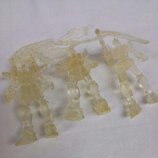 HK$38/3隻 ~ 高達透明公仔 Collectible Set of 3 Pcs Gundam Colorless See through Figures