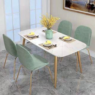 April hot sale TMDT 08 CSC 020 Marble Fabric Table Chair