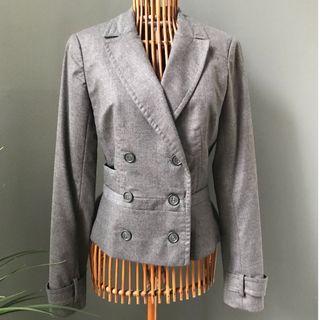 Reiss Double-Breasted Wool Blazer