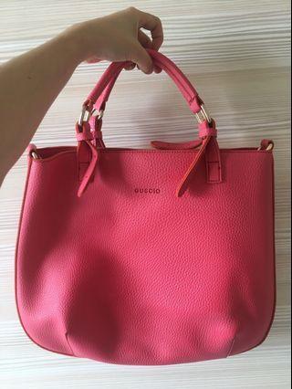 GUSCIO Italy粉紅手提包 肩背包