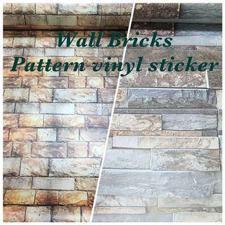 Bricks stone vinyl wall deco sticker