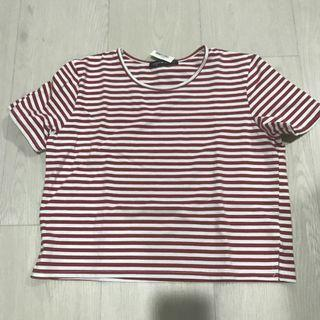 bnwt red white striped crop top
