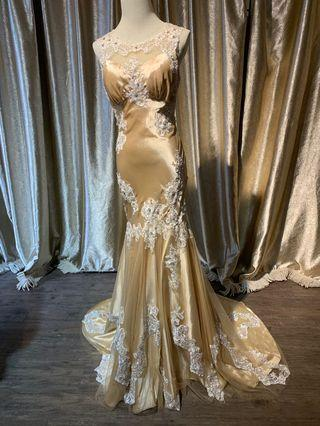 Wedding Gown Dinner Dress (Rent)