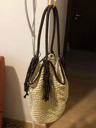 Beach bag crochet braided handbag sexy women summer 夏日風情沙灘手袋