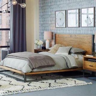 April hot sale 10A PO Loft /Retro Solid Pine Wood Bed Frame