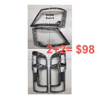 Nissan NV350 EURO 6 CARAVAN Van E26 Head - Tail Light CHROME Trim Bundle / NV350 Accessories >>READY STOCKS!!