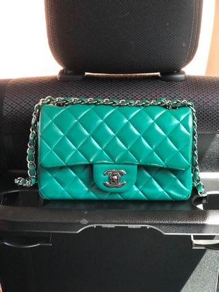 Chanel Classic Mini Rectangle Menthe Green