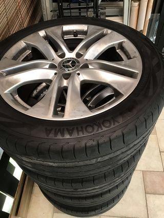 17 inch stock Mercedes rims