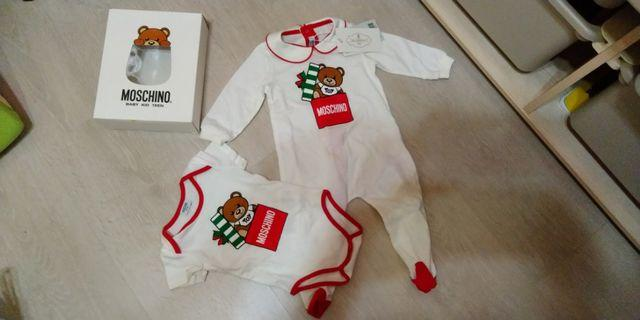 🚚 Moschino for baby 1 set 3-9 mos