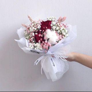 Fresh flower bouquet | Rose | Baby breath | Cotton flower | Birthday Flower | Anniversary Gift | 玫瑰 |鲜花 花束 |鲜花运送 |生日花束