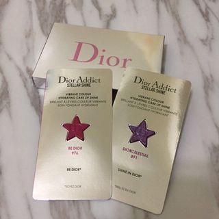 【全新】-Dior-癮誘超模巨星唇膏-2色卡
