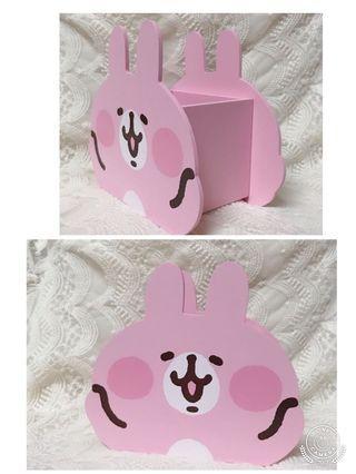 全新❤️卡娜赫拉 兔兔 大臉 造型筆筒 收納盒