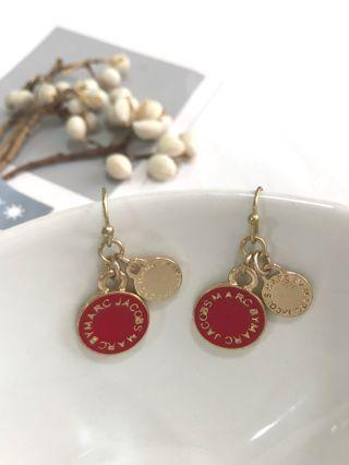 Marc Jacobs red classic earrings