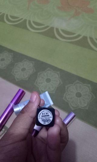Lip cream wardah no.3 bb cream wardah shade natural, emina lip tint no 1, lipstick purbasari shade diamond, maskara XI XIU