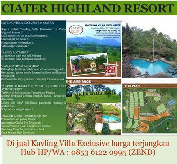 Dijual Kavling Villa @Ciater Highland Resort