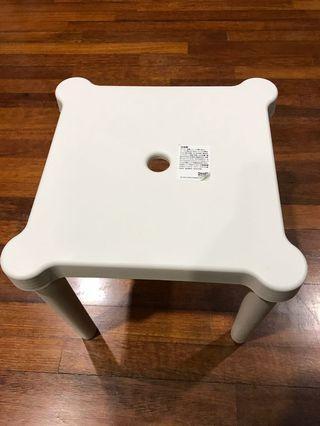 Ikea UTTER CHILDREN'S STOOL IN/OUTDOOR WHITE