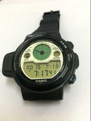 Vintage Casio CPW 310 Qiblah Compass  Prayer