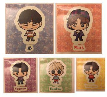 GOT7 Japanese Fanclub Stickers - SET
