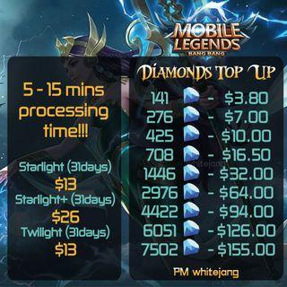 🚚 Mobile Legends Diamond Top Up