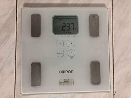 Omron HBF-214 scale electronic weight scale measuring fat
