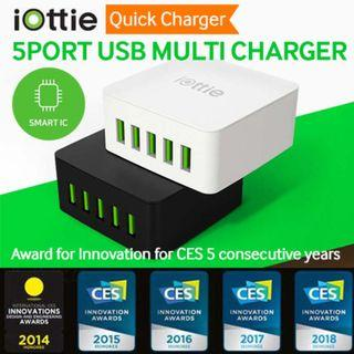 iOTTIE 5Port USB High-Speed Multi Charger