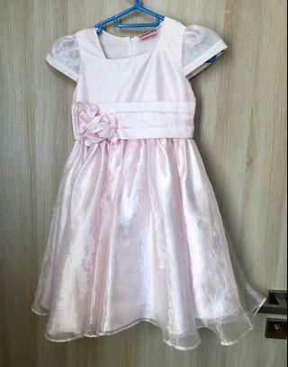 🚚 Pink Party Dress for Little Girl