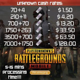 PUBG Mobile Unknown Cash (UC) Top up