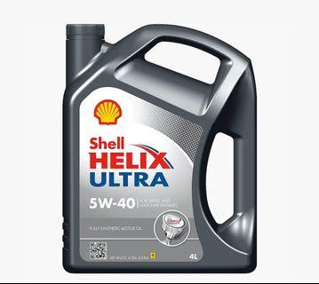 Brand new Shell Helix Ultra 5W-40 engine oil for sale